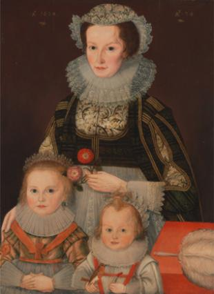 A Lady and Her Two Children
